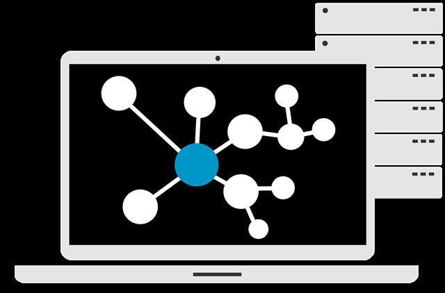 PC-Symbol mit Netzwerksymbol